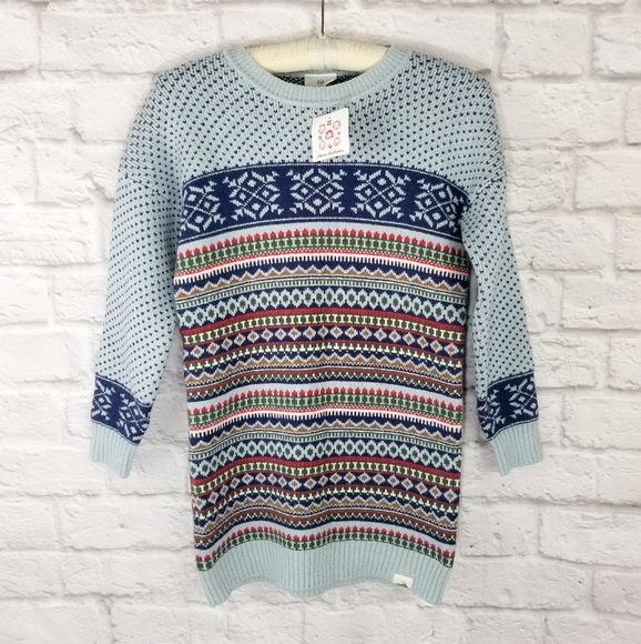 15fb0ad8f9e Hanna Andersson fair isle sweater dress NWT